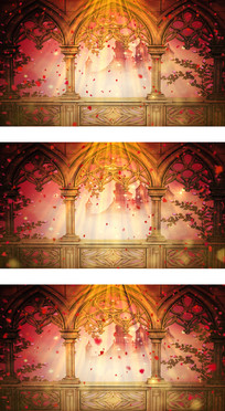欧式教堂中的伊甸园婚礼殿堂