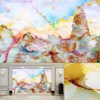 七彩海景天然大理石纹背景墙