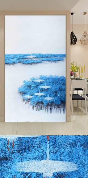 海上树林飞鸟玄关装饰画