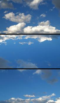 蓝天白云动态实拍视频素材