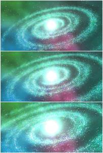 绿色宇宙银河系星系旋转视频