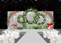 森林火烈鸟婚礼迎宾区