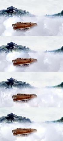 水墨风格梦幻白雾弥漫仙境
