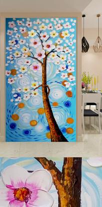 艺术玄关发财树