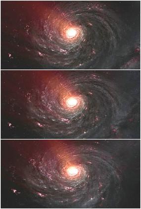 宇宙红色星系银河系太空视频