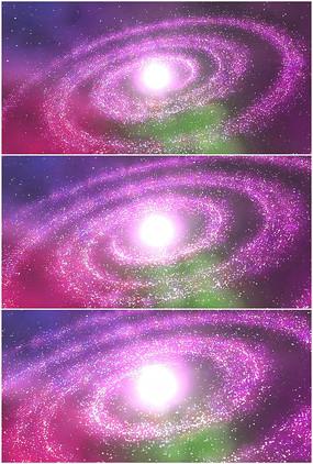 紫色宇宙银河系星系旋转视频