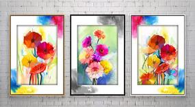 彩墨花卉欧式装饰画