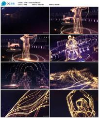 大气粒子音乐会开场背景视频