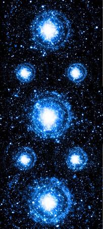 梦幻蓝色星空粒子LED舞台