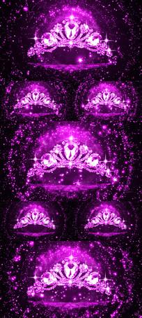 唯美钻石皇冠粒子浪漫舞台