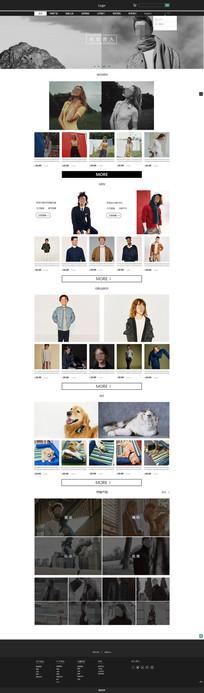 简约时尚购物网站 PSD