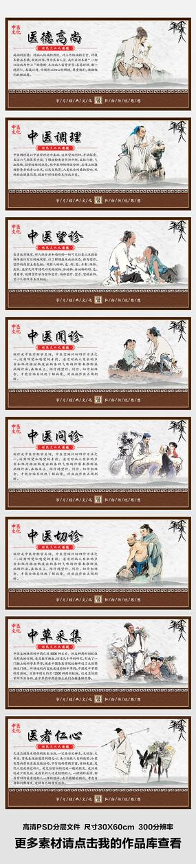 整套大气传统中医文化展板挂画