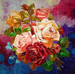 装饰画玫瑰