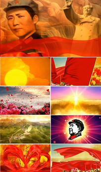 太阳最红毛主席最亲视频素材