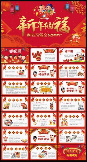 幼儿园春节习俗传统文化ppt图片