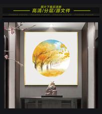 中式水彩意境水墨装饰画
