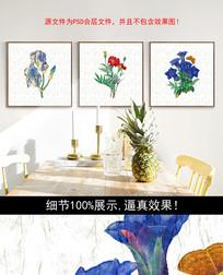 手绘花朵油画装饰画