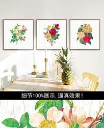 手绘花朵装饰画