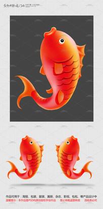 跳跃的鲤鱼 PSD