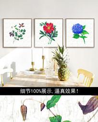 现代手绘花朵装饰画