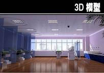 白色手术间3D模型