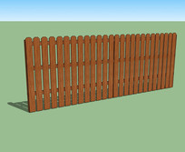 传统木围栏