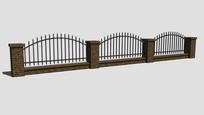 刺金属弧形栏杆围墙