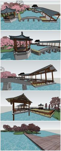 古典中式庭院SU模型