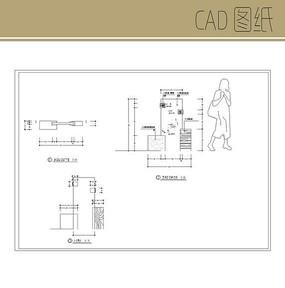 花岗岩标识牌CAD图纸