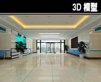 简易医院大厅3D模型 max