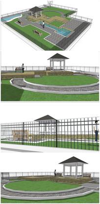 景观庭院SU模型