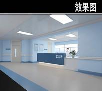 蓝色护士站3D效果图