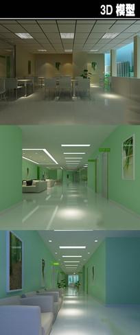 绿色医院3D模型
