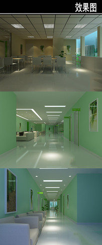 绿色医院3D效果图