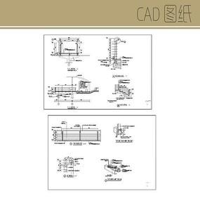 木栈道栏杆CAD
