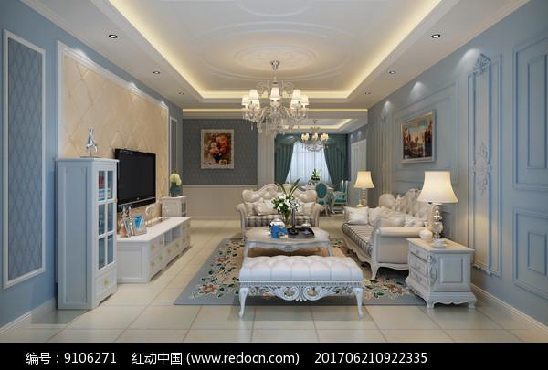 欧式风格室内设计效果图图片