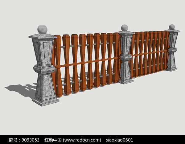 欧式花式木质围栏