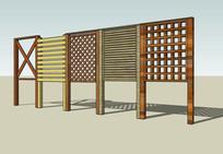 特色木栏板围栏