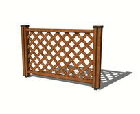 网格木围栏