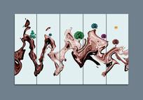 新中式意境水墨山水室内装饰画
