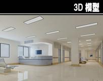 医院白蓝护士站3D模型