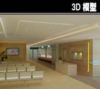 医院大理石护士站3D模型