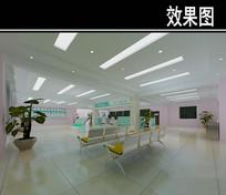 医院等待区3D效果图