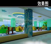 医院儿童中心3D效果图