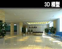医院简易大厅3D模型