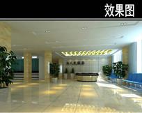 医院简易大厅3D效果图