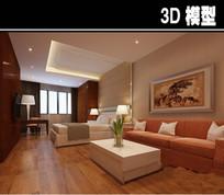医院家庭式病房3D模型