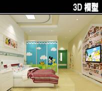 医院幼儿病房3D模型