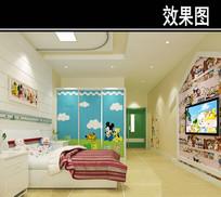 医院幼儿病房3D效果图