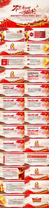 中国共产党党务公开条例PPT